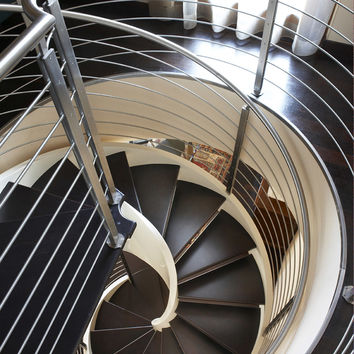 Helical wooden Spiral staircase ELI LE by RIZZI SCALE