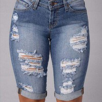 DCCKJ1A Jeans for women short jeans shorts cowgirl