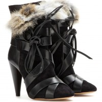 Neta suede and leather boots