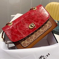 Samplefine2 COACH Fashion New Pattern Leather Shopping Leisure Chain Shoulder Bag Crossbody Bag