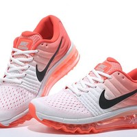"""Nike Air Max 2017"" Women Sport Casual Gradient Color Air Cushion Sneakers Running Shoes"