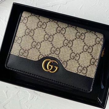Hipgirls  GUCCI New fashion more letter wallet  purse handbag