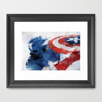 Captain America Framed Art Print by Melissa Smith