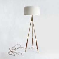 Mulberry Tripod Floor Lamp & Fabric Shade   Schoolhouse Electric & Supply Co.