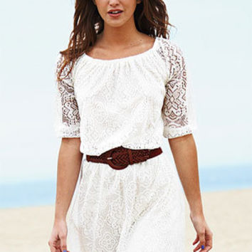 dELiAs > Allover Long-Sleeve Lace Dress > dresses > view all dresses