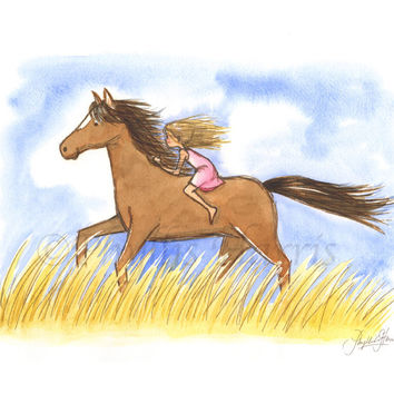 Free As The Wind Horse Girl - Wall art for horse lovers