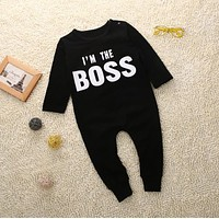 Super Cool Boys Clothing Newborn Infant Baby Boy Girl Kids Long Sleeve Cotton Romper Jumpsuit Body suit Clothes Outfit drop ship