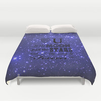 Love You Duvet Cover by Shawn King
