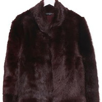 Shearling Chubby Coat By Boutique - Chocolate