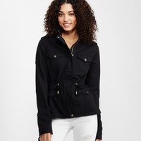 Hooded Twill Jacket - Aeropostale