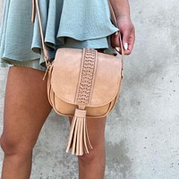 Coveted Little Handbag in Taupe