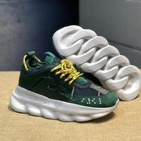 DCCK V004 Versace Fashion Breathable Height Increasing Shoes Green