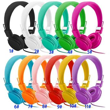 Gift Headphones Wired Folding Universal Mobile Headset with Microphones for Student Games Subwoofer Headphones