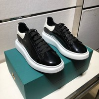 Ready Stock Alexander Mcqueen Men's Leather Fashion Low Top Sneakers Shoes #34