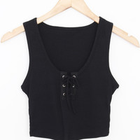 Laced Up Tank Top