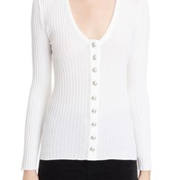 Balmain Button Front Knit Top | Nordstrom