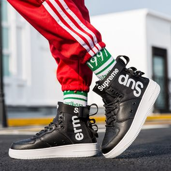 Supreme High band air force one pair high shoes, double zippers, sports shoes, sports shoes