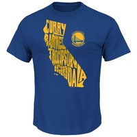 Majestic Golden State Warriors State Outline Tee - Men