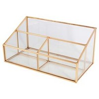 Glass and Metal 3 Compartment Vanity Organizer - Threshold™