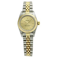 Rolex Lady Oyster Perpetual 76193 18k Gold Stainless Steel Automatic Watch
