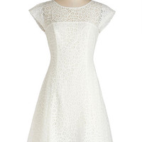 ModCloth Mid-length Cap Sleeves A-line In the Atrium Dress