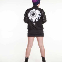 Long Clothing and Mishka Collaboration Keep Watch Varsity Jacket - Unisex