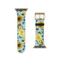 Turquoise Sunflower Apple Watch Band