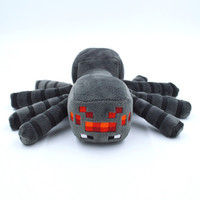 Minecraft Spider Plush Toys High Quality With Tags 14cm Spider Stuffed Animal Dolls Bat Cow Ghast Christmas Gift for Minecraft Player & Kids