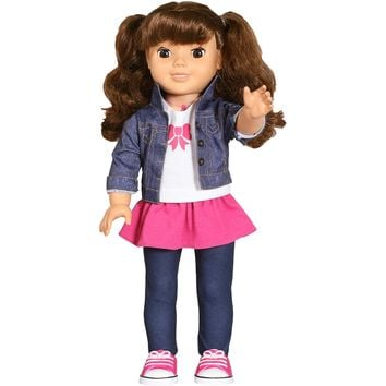 "Brunette 18"" Smart Realistic Interactive Talking Fashion Baby Doll"
