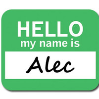 Alec Hello My Name Is Mouse Pad