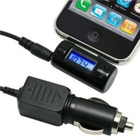 All Channel FM Transmitter w/ Car Charger for iPod / iPhone 3G / iPhone 3Gs 16GB / 32GB , Black