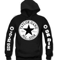 "Taylor Gang All Star ""3Prints"" Unisex Hooded Sweatshirt Funny and Music"