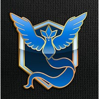Team Mystic Pin for Backpacks Pokemon Go Leadership Lapel Clothes Pins