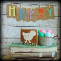 Personalized Sign, Custom Name Plaque, Gifts Under 20, Easter Basket Filler, Baby Chick Decor, Chicken Sign, Farmhouse Style Decor,Wood Sign