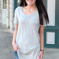 Emma's Basic Short Sleeve Top {H.Grey}