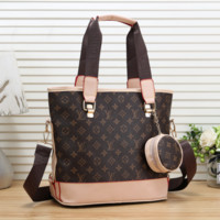 LV Louis Vuitton Women Shopping Leather Tote Handbag Shoulder