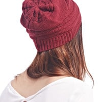 Slouchy Ribbed Knit Beanie   Wet Seal