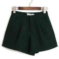 Tweed Shorts with Pockets