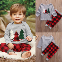 T-shirt Tops Cotton Pants Leggings Baby Boy Clothing Outfits 2PCS Kids Baby Toddler Boy Girls Clothes Set 1-6Y