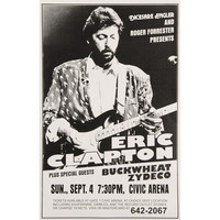 Eric Clapton - Concert Promo Poster