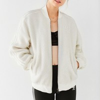 adidas Originals Superstar Faux Sherpa Track Jacket | Urban Outfitters