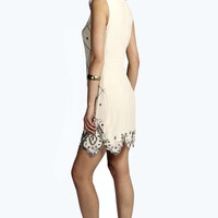 Boutique Gemma Chiffon Embellished Shift Dress