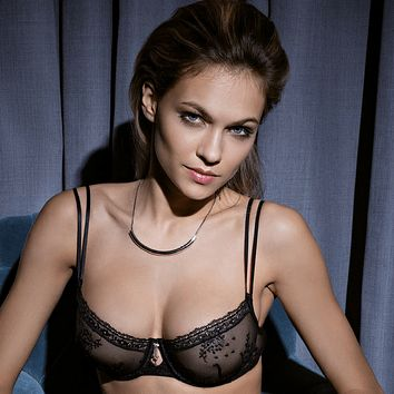 Sexy Sheer Embroidered Bra Lisca Blossom