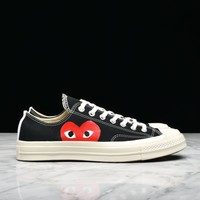 CDG PLAY x CONVERSE CHUCK TAYLOR ALL STAR '70 OX - BLACK - Best Deal Online