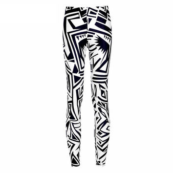 Abstract Graphic Print  Leggings