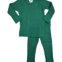 Crew Unisex-baby Green Ribbed Set
