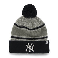 New York Yankees MLb Baseball Beanie Cap Gray Palmer Cuff Knit Winter Hat