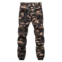 100 Cotton Mens Jogger Autumn Pencil Harem Pants 2018 Men Camouflage Military Pants Loose Comfortable Cargo Trousers Camo Jogger