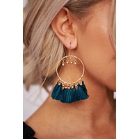Biggest Moment Hoop Earrings (Teal)