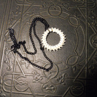 Circle of Life Real Rattlesnake Spine Vertebrae Necklace Haute Goth